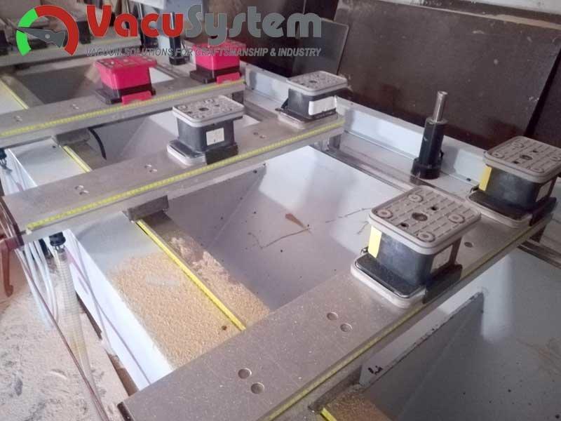 Podciśnieniowe stoły belkowe trawersowe cnc