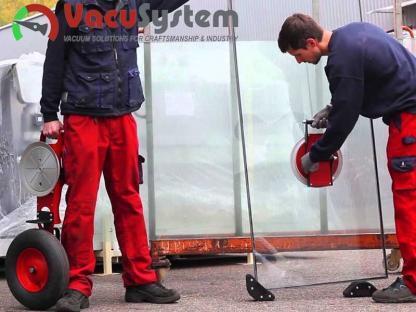 Transporter próżniowy do szyb szkła Glass-Roll przyssawka do szyb chwytak taczka