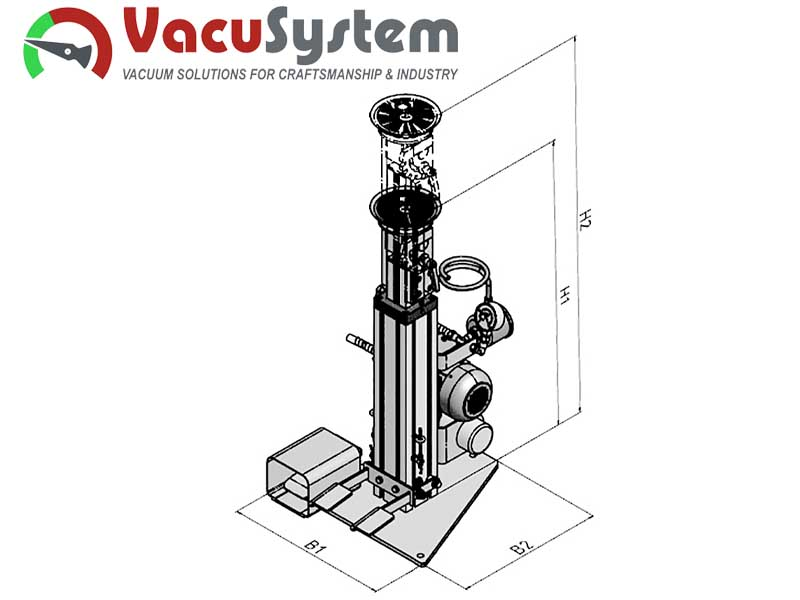 Podciśnieniowy przyssawkowy stół montażowy warsztatowy MAS wymiary