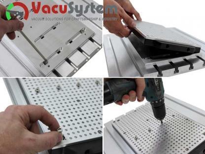 oczkowy stół podciśnieniowy próżniowy Vacu-Plate LR Hobby+ montaż