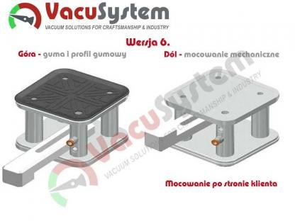 Przyssawka do stołów płaskich panelowych i teowych konfiguracja