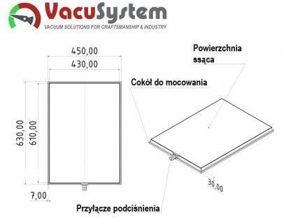 Stół podciśnieniowy próżniowy do folii papieru delikatnych metapor