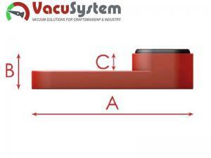nakładka przyssawkek CNC vc-k1 50 mm wymiary