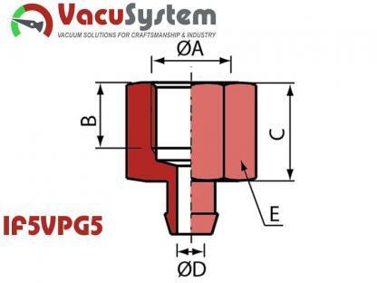 Nypel przyłączeniowy przyssawki IF5VPG5 M5 żeński