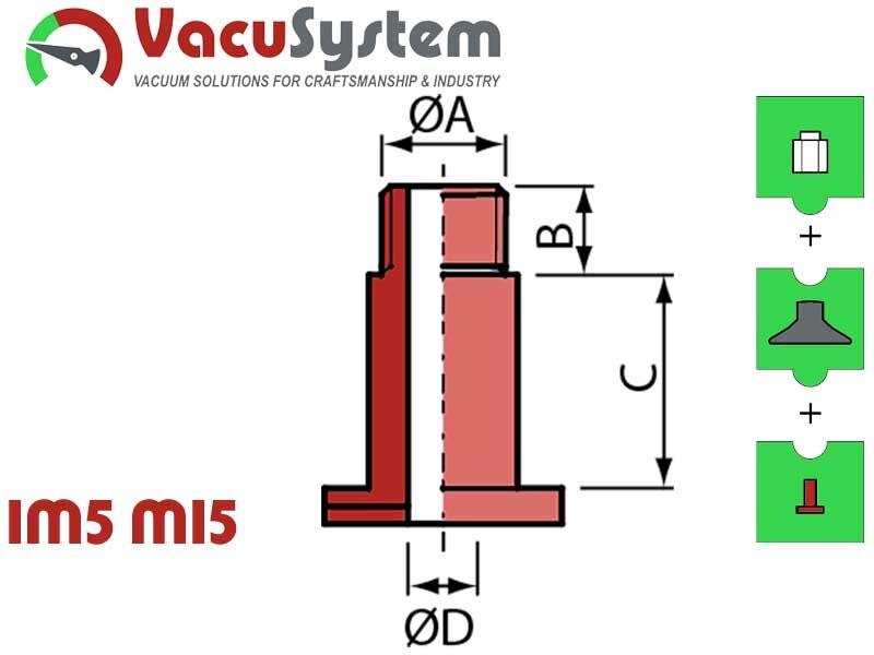 śruba zaciskowa nypla skręcanego przyssawka VPG 15