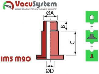 śruba zaciskowa nypla skręcanego przyssawka VPG 20