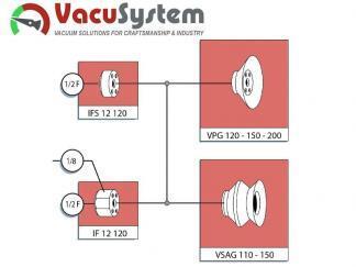 głowice mocujące przyssawek płaskich VPG 120 VPG 200