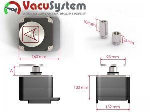 Zacisk pneumatyczny pionowy Homag multiclamp powerclamp VC-K2 wymiary