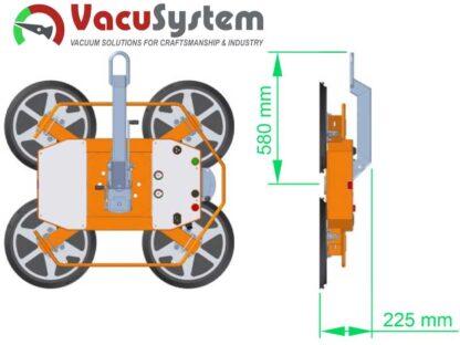 krótkie ramie nośne podnośnika do szyb szkła VacuSystem