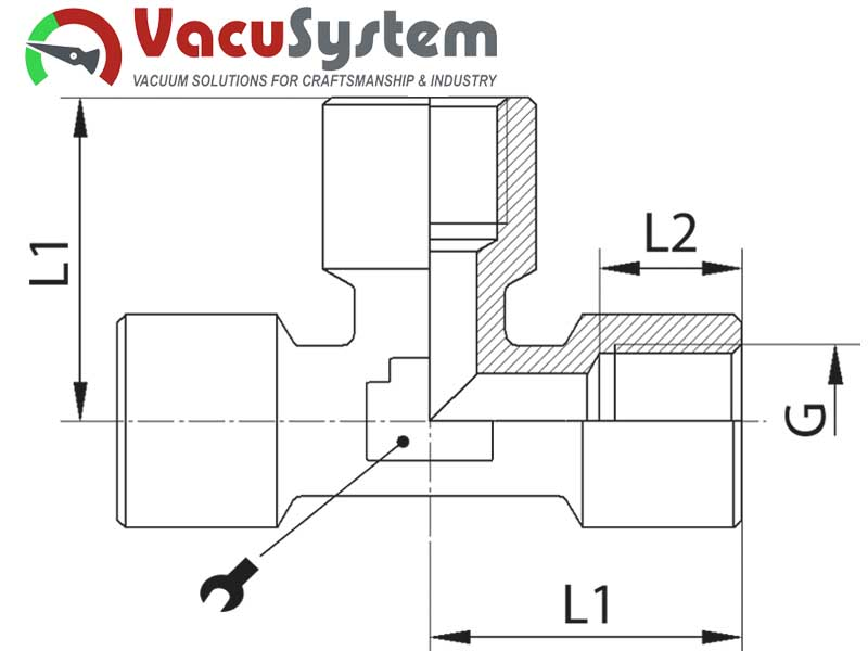 Trójnik podciśnieniowy rozdzielacz układów prożniowych gwint gazowy wewnętrzny
