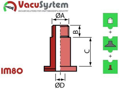 IM80 śruba zaciskowa nypla skręcanego przyssawka VSA