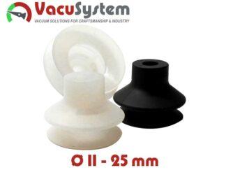 Przyssawki mieszkowe 1,5 fałdy VSA Coval podciśnieniowe próżniowe 11-25 mm