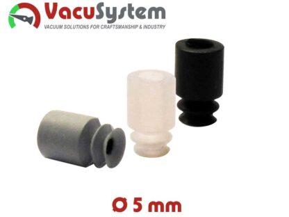 Przyssawki mieszkowe 1,5 fałdy VSA Coval podciśnieniowe próżniowe 5 mm